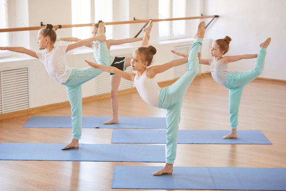 Kids Working Out - Stock Photo - Images