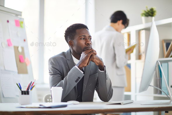 Tired businessman - Stock Photo - Images