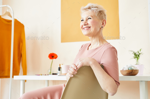Blonde female model - Stock Photo - Images