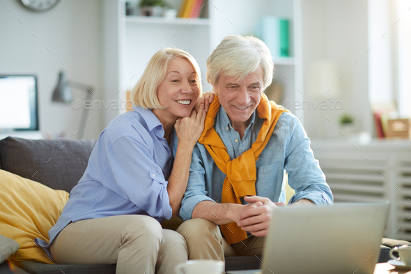 Happy Senior Couple at Home - Stock Photo - Images