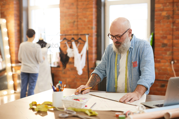 Working in tailoring shop - Stock Photo - Images