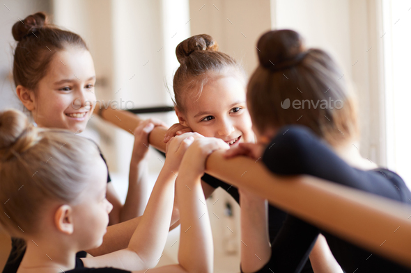 Little Girls in Ballet Class - Stock Photo - Images