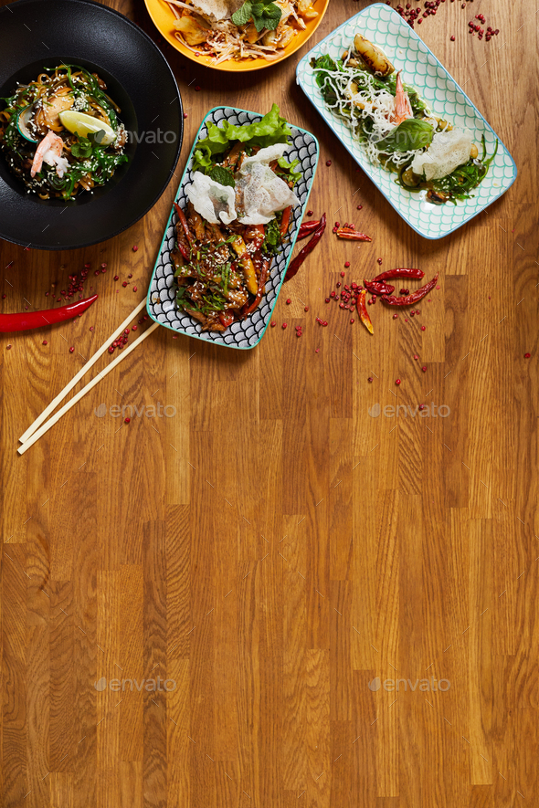 Asian Food Copy Space - Stock Photo - Images