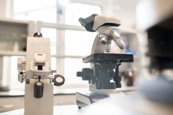 Optical instruments in laboratory - Stock Photo - Images