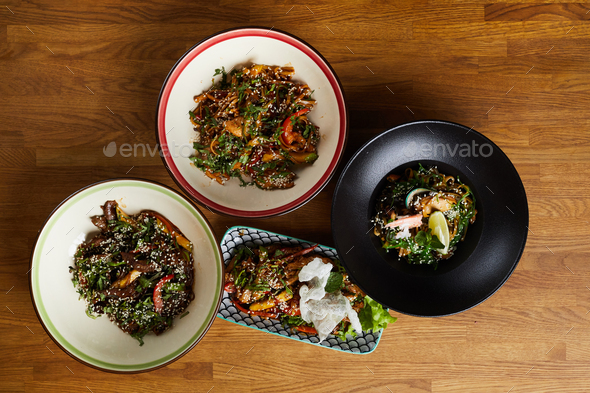 Oriental Cuisine Dishes - Stock Photo - Images