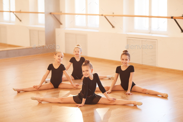 Girls Doing Splits - Stock Photo - Images