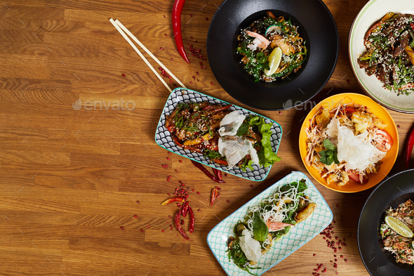 Gourmet Asian Food - Stock Photo - Images