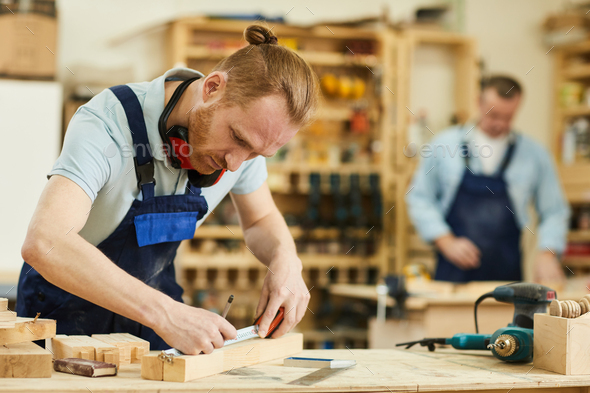 Contemporary Carpenter - Stock Photo - Images