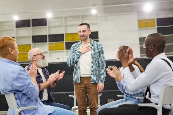 Introduction at Support Group Meeting - Stock Photo - Images