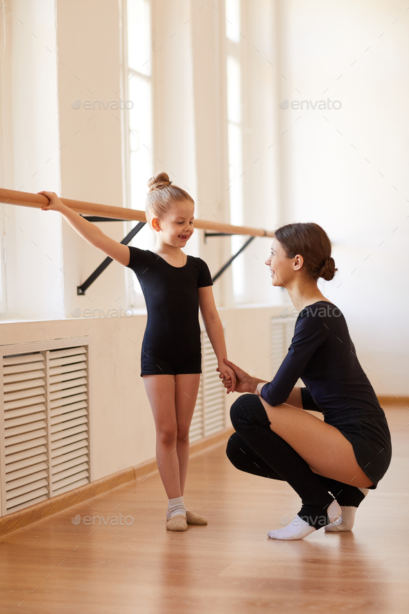 Little Ballerina at Practice - Stock Photo - Images
