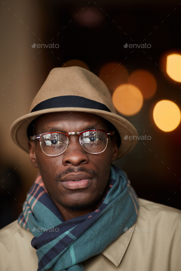 Portrait of Trendy African Man Outdoors - Stock Photo - Images