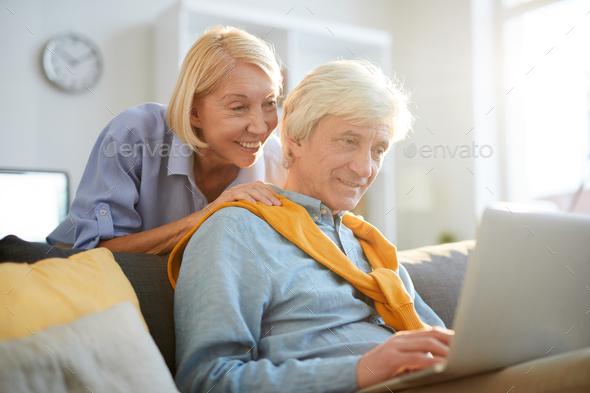 Contemporary Senior Man Using Laptop - Stock Photo - Images