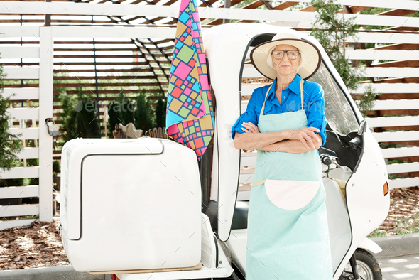 Contemporary Senior Gardener - Stock Photo - Images