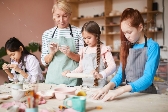 Pottery Class for Children - Stock Photo - Images