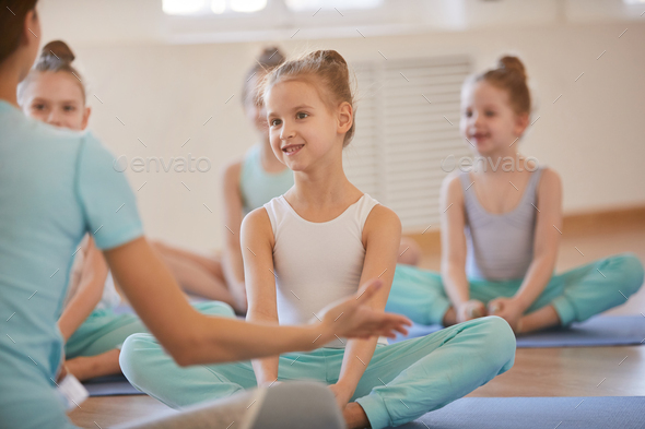 Girl in PE Class - Stock Photo - Images