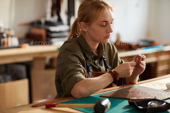 Leather Craftsman - Stock Photo - Images