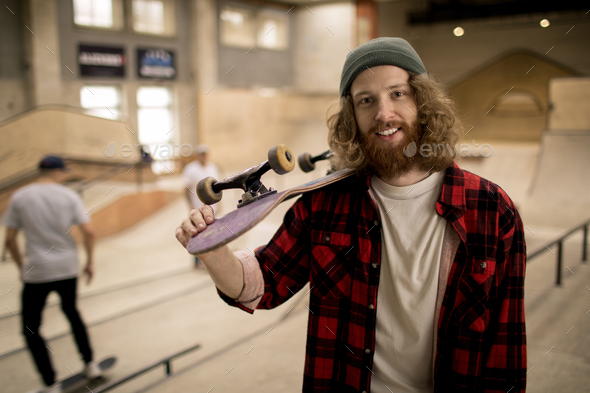 Skater Posing - Stock Photo - Images