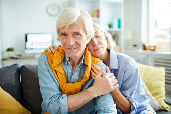Portrait of Senior Couple in Love - Stock Photo - Images