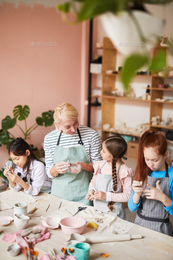 Pottery School for Kids - Stock Photo - Images