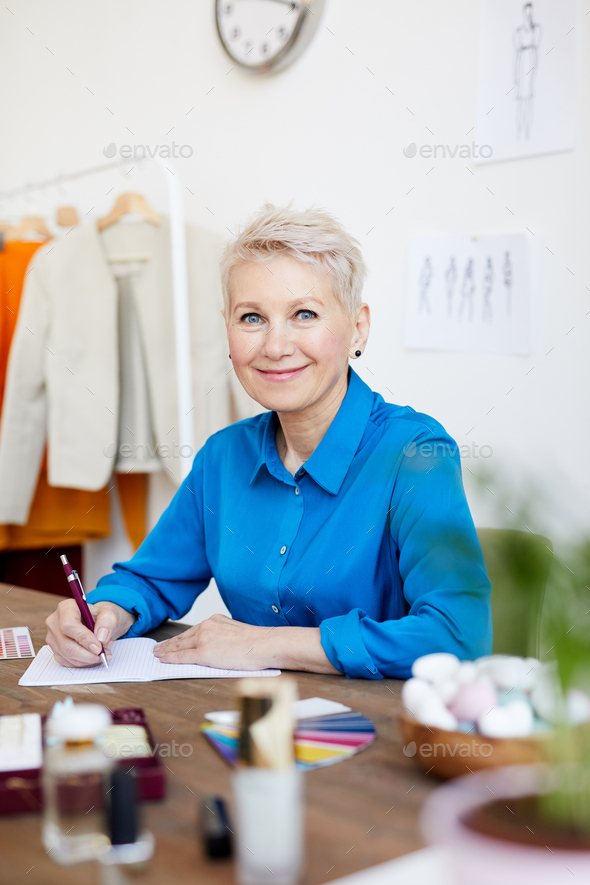 Female designer in studio - Stock Photo - Images