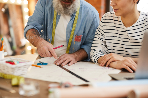 Fashion designers by workplace - Stock Photo - Images
