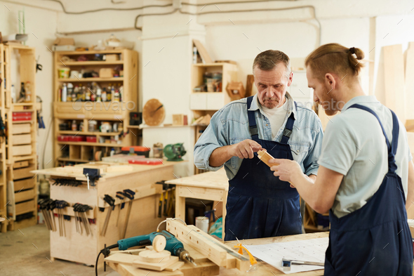Carpenters Working on Project - Stock Photo - Images