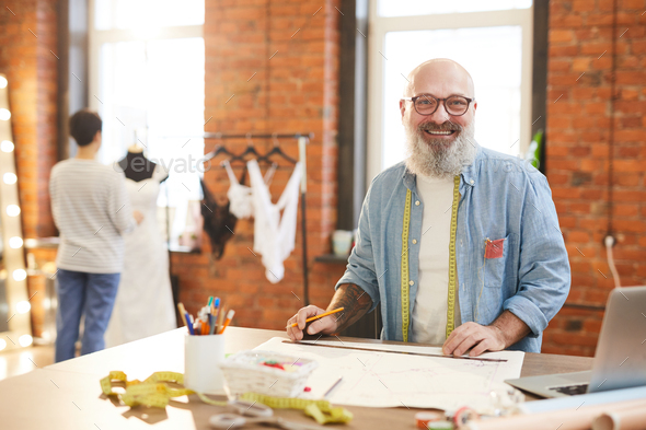 Happy tailor - Stock Photo - Images