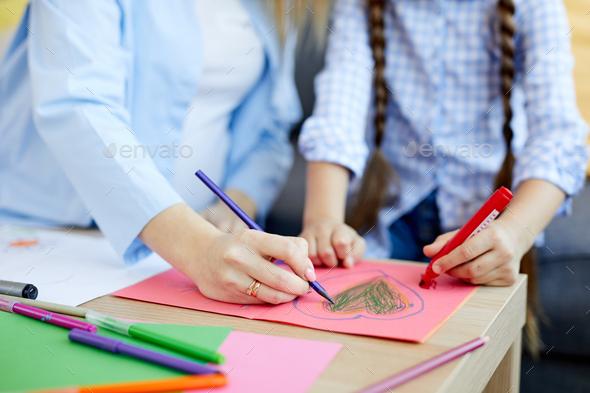 Making Handmade Card - Stock Photo - Images