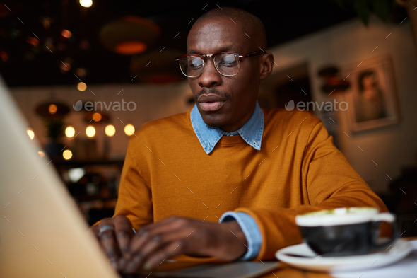 African-American Freelancer - Stock Photo - Images