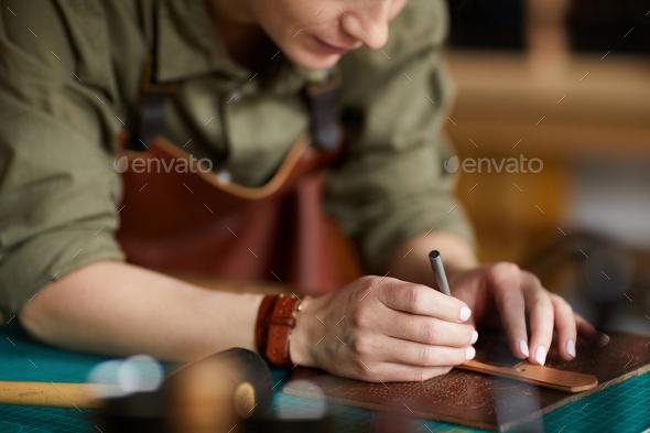Female Craftsman Working - Stock Photo - Images