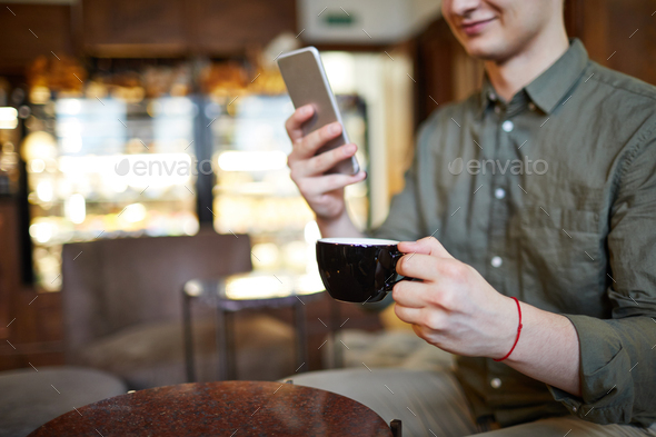 Guy in cafe - Stock Photo - Images