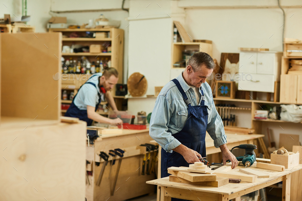 Carpenters in Work shop - Stock Photo - Images