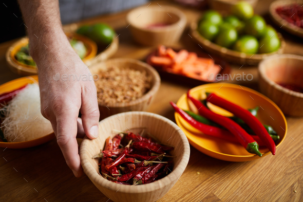 Chili Pepper Spices - Stock Photo - Images