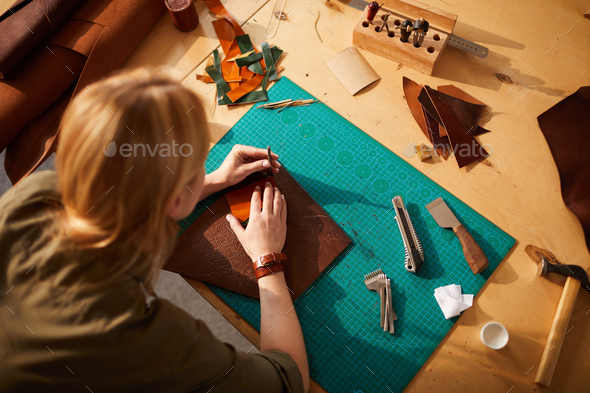 Female Artisan High angle view - Stock Photo - Images