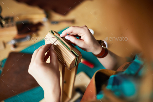 Making Leather Bag - Stock Photo - Images