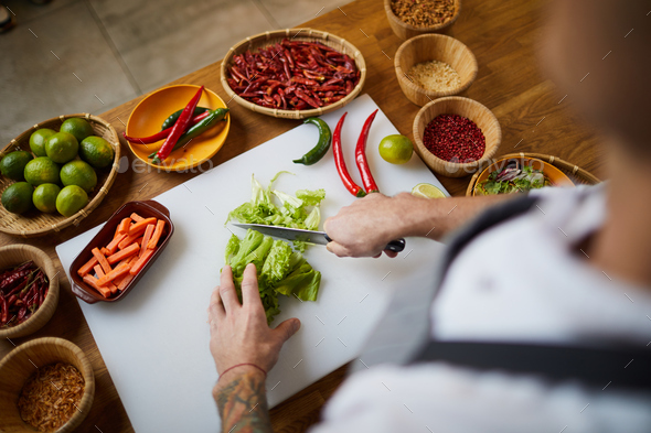 Spicy Food Above View - Stock Photo - Images