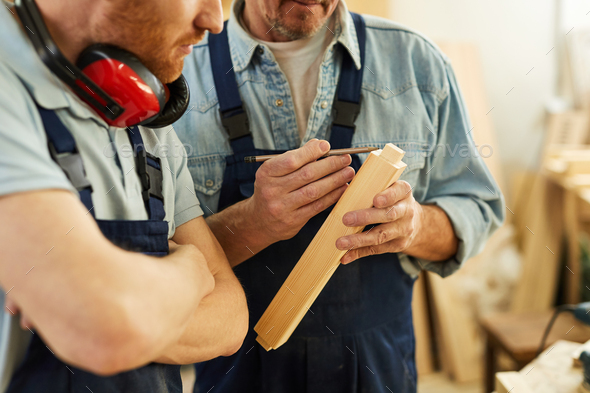 Carpenters at Work - Stock Photo - Images