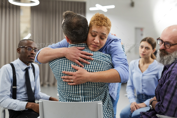 Compassion in Support Group - Stock Photo - Images