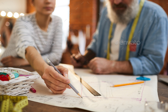 Designer with pencil - Stock Photo - Images