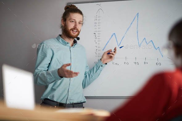 Contemporary Man Giving Presentation - Stock Photo - Images