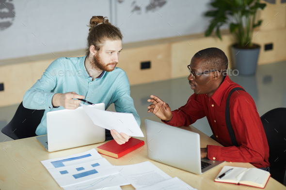 Two Entrepreneurs Planning Startup - Stock Photo - Images