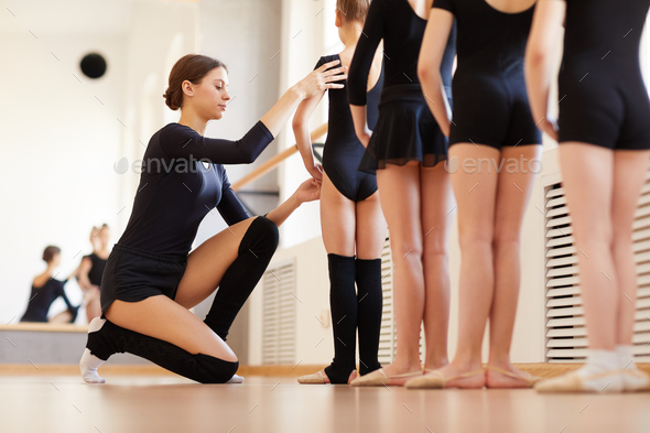 Ballet Class for Little Girls - Stock Photo - Images