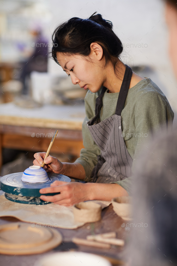 Painting ceramics - Stock Photo - Images