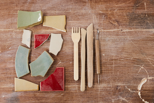 Tools for ceramic design - Stock Photo - Images
