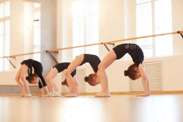 Girls doing Gymnastics - Stock Photo - Images