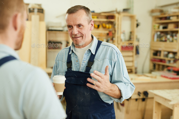 Workers at Coffee Break - Stock Photo - Images
