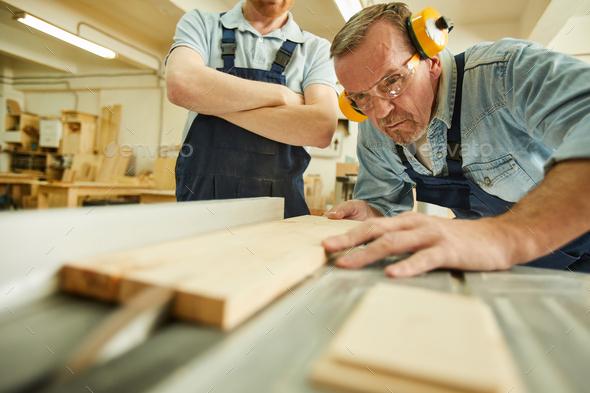 Wood Cutter Closeup - Stock Photo - Images