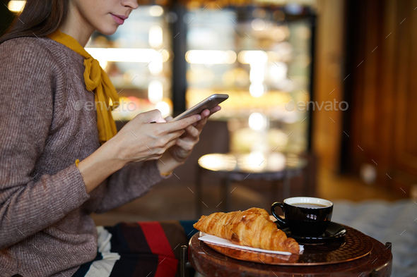 Snack in cafe - Stock Photo - Images