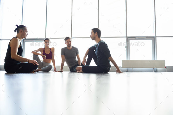 Planning shared yoga practice - Stock Photo - Images