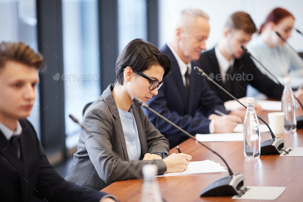 Business People in Forum - Stock Photo - Images